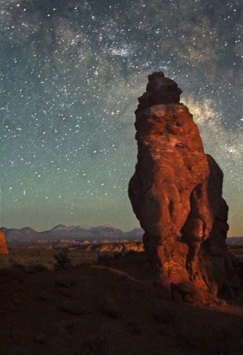 Milky way at Arches National Park